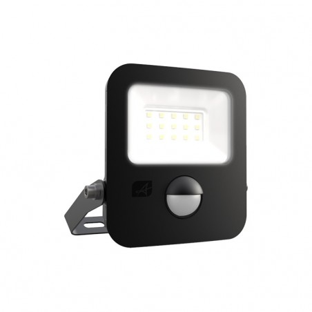 Ansell AZILED10/PIR Zion LED Polycarbonate Floodlight - PIR - 10W Cool White