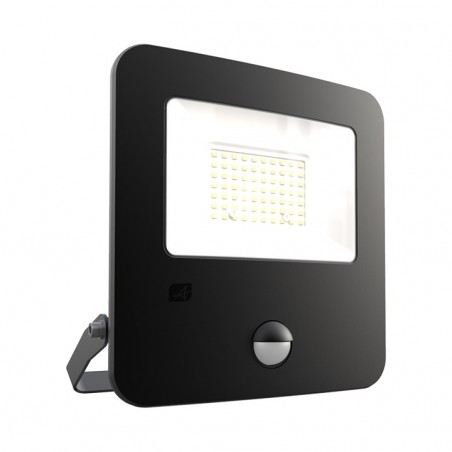 Ansell AZILED50/PIR Zion LED Polycarbonate Floodlight - PIR - 50W Cool White