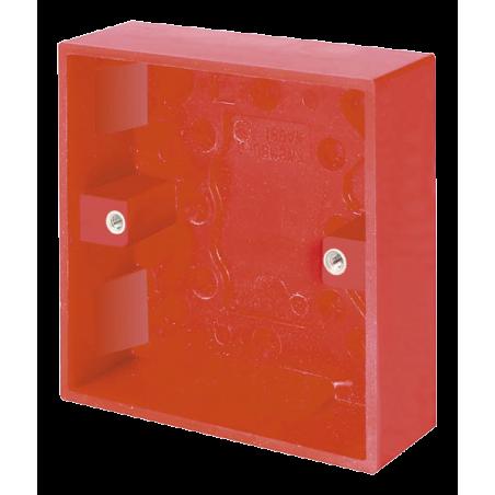 Click WA081RD Pattress 1Gang 25mm Red