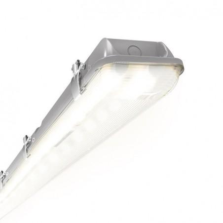 Ansell ATORLED2X4/M3 Tornado IP65 LED Non-Corrosive - Self Test Emergency 40W Grey