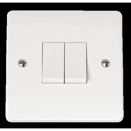 Click CMA012 Plateswitch 2G 2W 10A White