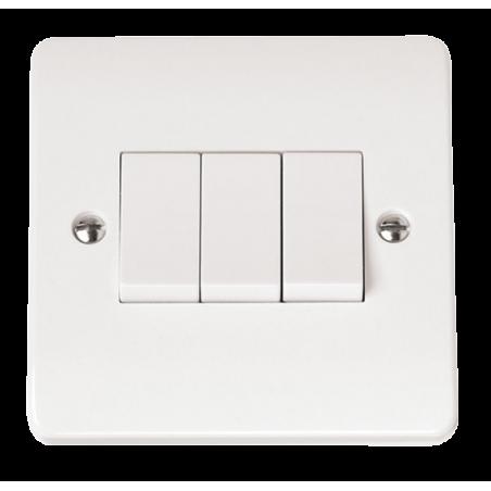 Click CMA013 Plateswitch 3G 2W 10A White