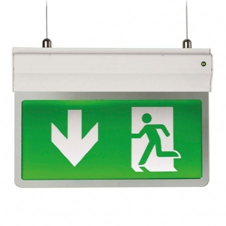 Ansell AE3LED/3M/W Eagle 3-In-1 LED Exit Sign Maintained / Non-Maintained 2.5W White